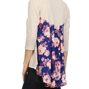 Le Lis high low top with flower patterned back